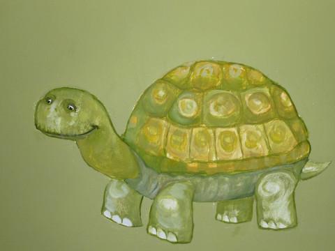 Schildkröte in Grün